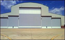 Airport Hangar - In-Panel Entry Doors