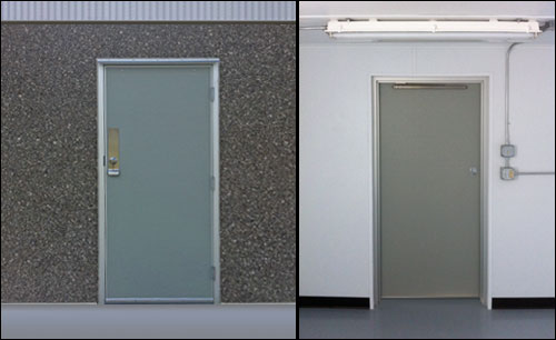 Utility Building - Custom Short Door & Cline Doors - Aluminum and FRP Door Project Gallery